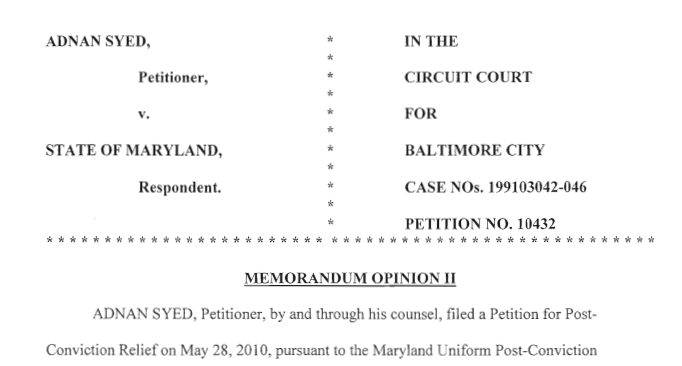 Judge Orders New Trial for Adnan Syed